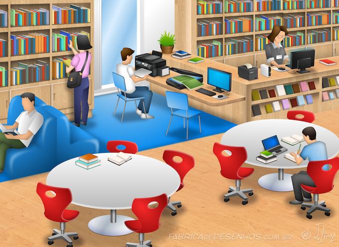 Desenho De Biblioteca Para Colorir: Biblioteca 3D Epson Epson 3D Desenho Cenario Escola