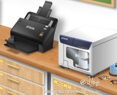Epson 3D desenho cenario escola educação alunos palestra projetor impressora projeção design background drawing illustration scenery education school projector printer JLima 1
