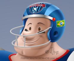 Mascote mascot design character personagem desenho futebol americano super bowl futball jogador player j. lima 7