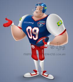Mascote mascot design character personagem desenho futebol americano super bowl futball jogador player j. lima
