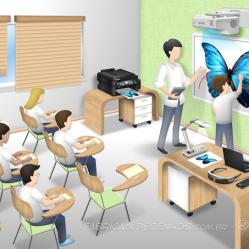 Sala de aula, cliente: EPSON