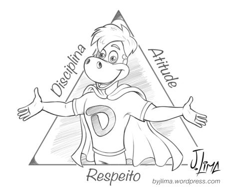 Super Dino Danoninho danone mascot design character design croqui sketch by jlima