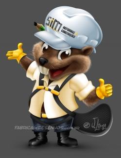 beaver castor mascot design character mascote personagem 3d desenho cartoon ilustracao capacete obra construtora arquitetura jlima 3