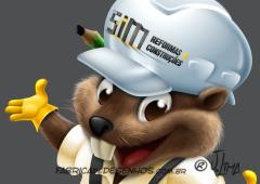 beaver castor mascot design character mascote personagem 3d desenho cartoon ilustracao capacete obra construtora arquitetura jlima