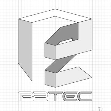logo design monocromatico vetor p2tec jlima empresa tec ti criacao 2