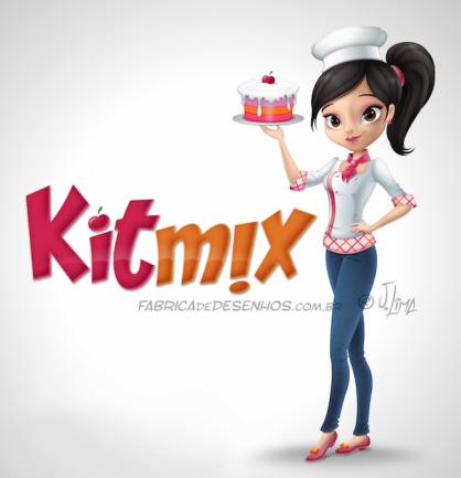 mascote logo KitMix