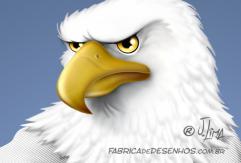 Aguia katare kimono eagle luta arte marcial mascote mascot character design personagem desenho cartum cartoon jlima faixa preta luta careca 3d conceito concept 1
