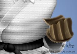 Aguia katare kimono eagle luta arte marcial mascote mascot character design personagem desenho cartum cartoon jlima faixa preta luta careca 3d conceito concept 3