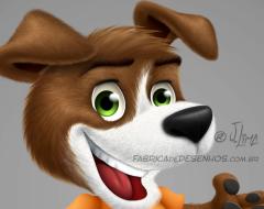 mascot design mascote personagem character desenho dog cao cachorro cachorrinho tenis jeans fofinho empresa loja logo roupas ilustracao cartoon cartum j. lima 2