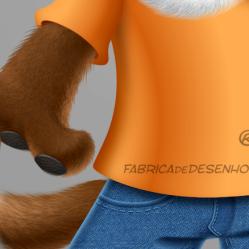 mascot design mascote personagem character desenho dog cao cachorro cachorrinho tenis jeans fofinho empresa loja logo roupas ilustracao cartoon cartum j. lima 3