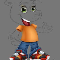 mascot design mascote personagem character desenho dog cao cachorro cachorrinho tenis jeans fofinho empresa loja logo roupas ilustracao cartoon cartum j. lima 5