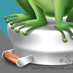 mascote sapo frog personagem character mascot design wacom ipad jlima 2