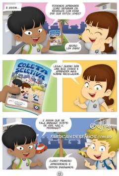 gibi hq quadrinhos manual coleta seletiva ecologia prefeitura governo manuel ribas jlima 5