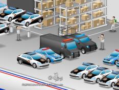JSL Julio Simoes CS Brasil desenho 3d mapa logistico ilustracao vetor concept art jlima log logistica transporte policia frota rio janeiro 3