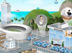 JSL Julio Simoes CS Brasil desenho 3d mapa logistico ilustracao vetor concept art jlima log logistica transporte policia frota rio janeiro 4