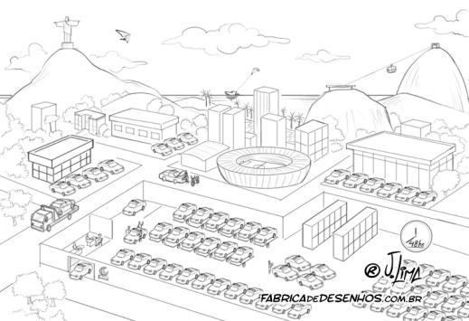 JSL Julio Simoes CS Brasil desenho 3d mapa logistico ilustracao vetor concept art jlima log logistica transporte policia frota rio janeiro esboço croqui sketch