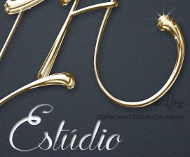 Logo design PH estudio dourado logotipo logomarca metalico metal jlima 2