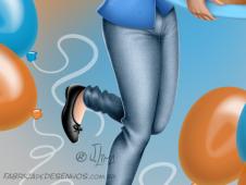 bolo aniversário parabéns conceito de arte cake birthday congratulations concept art arte design mascote personagem mascote character 3d cartão post girl woman mulher menina uniforme desenho ilustração illustration jlima 3