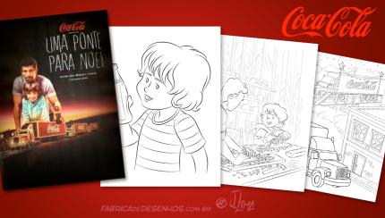 Livro para colorir Coca-Cola