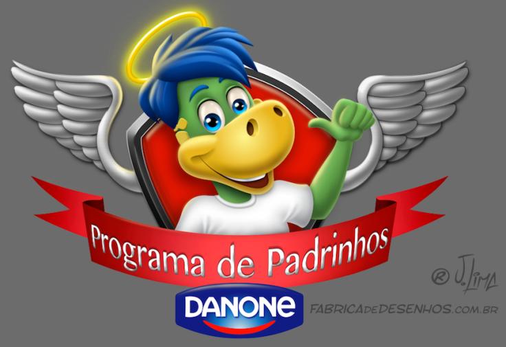 logo design mascot character personagem mascote danone dino danoninho jlima 3d desenho cartum cartoon asas simbolo ilustracao arte concept art