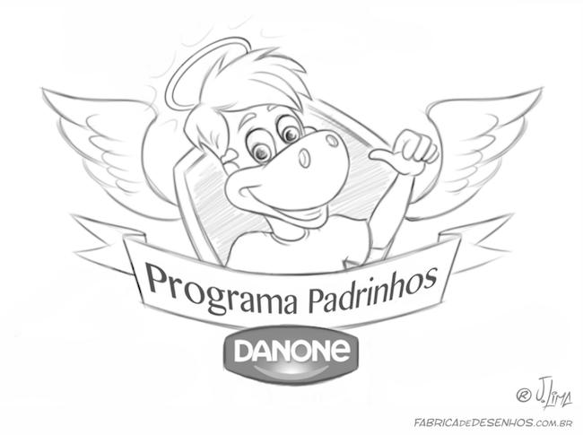 logo design mascot character personagem mascote danone dino danoninho jlima 3d desenho cartum cartoon asas simbolo ilustracao arte sketch esboço rafi croqui 3