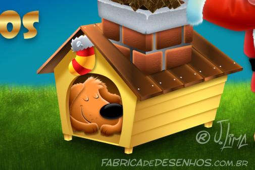 Cart o de natal mascote petitos a f brica de desenhos for Mascot homes floor plans