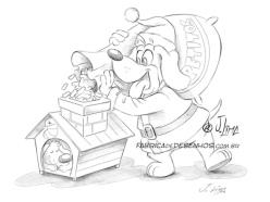 papai-noel-merry-christmas-good-card-parties-gift-mascote-mascot-design-character-personagem-dog-cachorro-cao-natal-presente-cartao-desenho-2016-illustration-sketch-esoboco-croqui-santa-claus