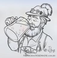 hawp-bier-rotulo-cerveja-bebida-artesanal-alemao-chops-caneca-mascote-personagem-embalagem-design-mascot-character-jlima-desenho-ilustracao-illustration-sketch-croqui-esboco