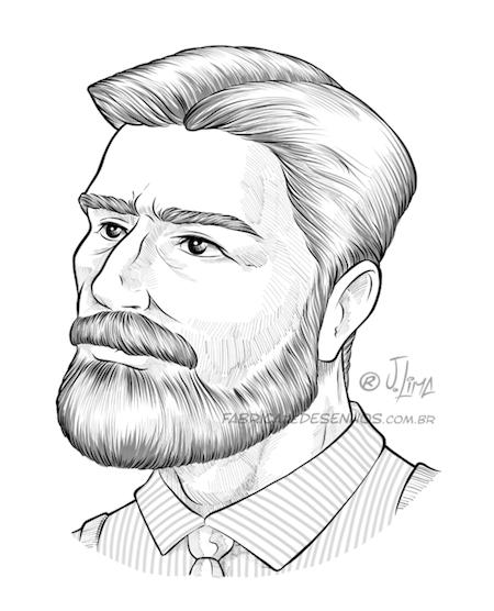 Barbearia Barba Beard Balsamo Barbear Homem Man Jack Desenho