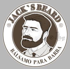 barbearia barba beard balsamo barbear homem man jack desenho ilustracao arte design character illustration jlima draw vetor vector perfil men jovem rosto face color