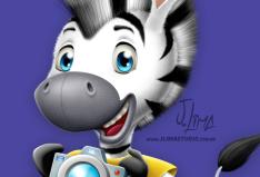 logo logotipo mascote zebra personagem desenho ilustracao jlima design character mascot illustration draw 3d face rosto 2
