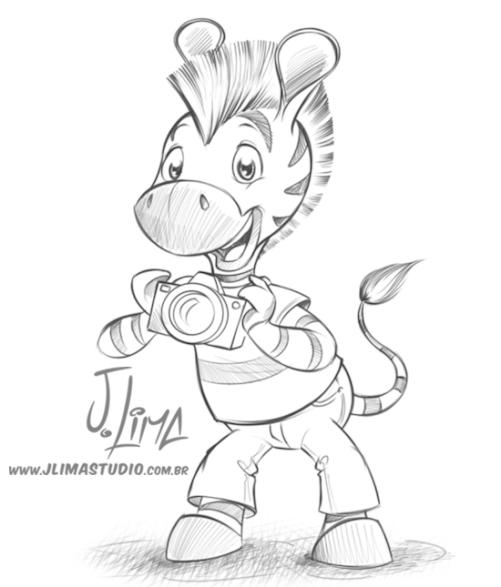 logo logotipo mascote zebra personagem desenho ilustracao jlima design character mascot illustration draw 3d sketch esboço rafi croqui croki