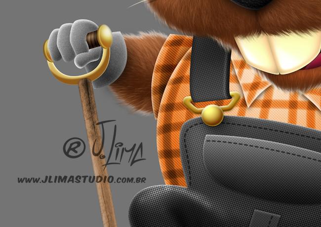 castor beaver mascot design character personagem mascote ilustracao illustration desenho draw 3d color cores jlima pose capacete construcao pá toca pedreiro construtor 2