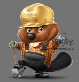 castor beaver mascot design character personagem mascote ilustracao illustration desenho draw 3d color cores jlima pose capacete construcao pá toca pedreiro construtor