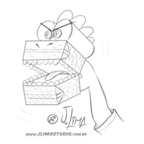 desenho ilustração livro didatico infantil brinquedos reciclados toys sketch esboço rafi croqui dino