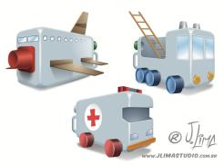 desenho ilustração livro didatico infantil brinquedos reciclados toys