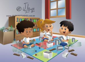 desenho ilustração livro didatico infantil classe professora alunos carteiras school teacher students jlima arte color colorido book ilustration art kids crianças toys brinquedos