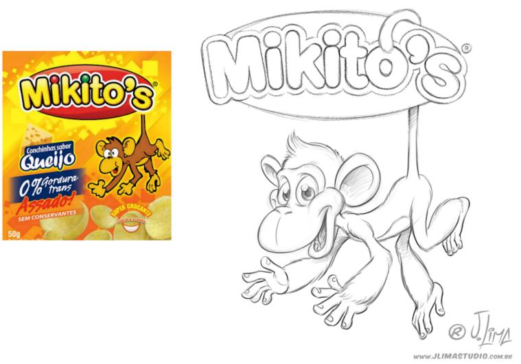mascote personagem character mascot design monkey macaco chimpanze ximpanse zimpanze mikitos salgadinhos embalagem ilustracao desenho arte 3d jlima skate radical melhor 2c