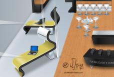 Epson stand 3D ilustração illustration desenho croqui colorido color estande tridimensional jlima j. lima empresa feira projeto design 1