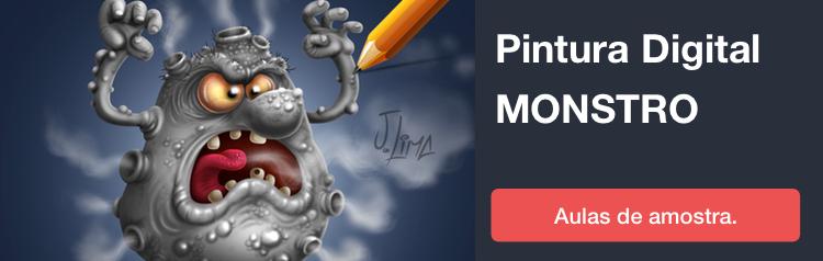banners cursos 2018 PINTURA DIGITAL MONSTRO