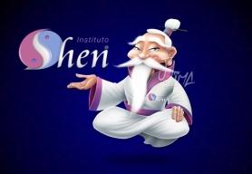 Mascote Shen 3d pintura collor cores face master chines chinise desenho ilustração jlima arte conceito design personagem mascote mascot character kimono oriental empresa loja instituto