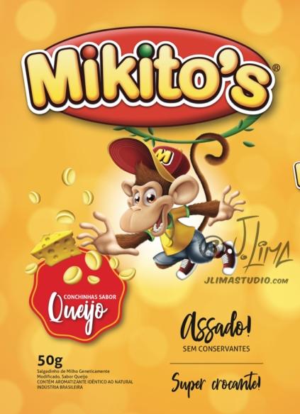 mikitos embalagem salgadinho alimentos personagem macaco bone infantil kids 3d produto mascote mascot character design j. lima jlima desenho ilustração 2