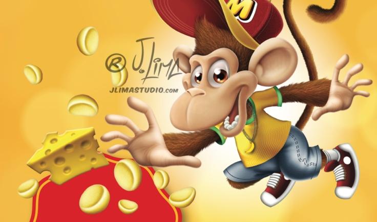 mikitos embalagem salgadinho alimentos personagem macaco bone infantil kids 3d produto mascote mascot character design j. lima jlima desenho ilustração 3