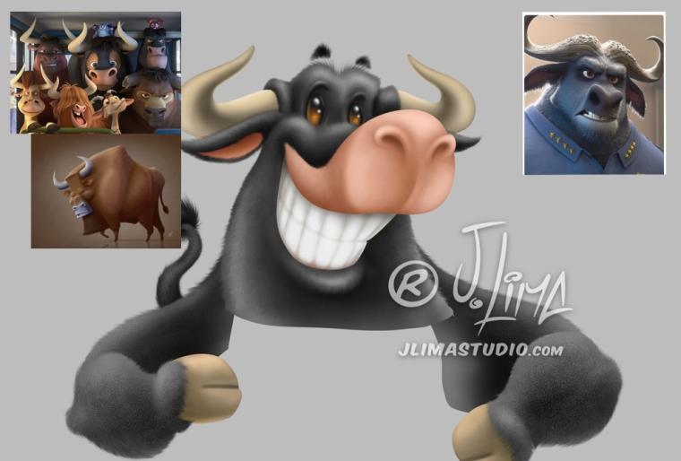 Mascote Dodo colorido brasao-dodo touro brasao logo design jlima desenho mascote mascot personagem 3d character empresa marca ilustração imagem boi bufalo sorrindo feliz alegre referen