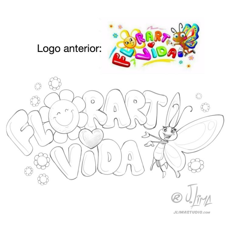 borboleta logo design logotipo mascote personagem flor vida flores jlima desenho ilustração arte art 3d vetor pintura digital concept conceito esboço croqui sketch rascunho lapis