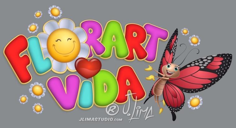 borboleta logo design logotipo mascote personagem flor vida flores jlima desenho ilustração arte art 3d vetor pintura digital concept conceito