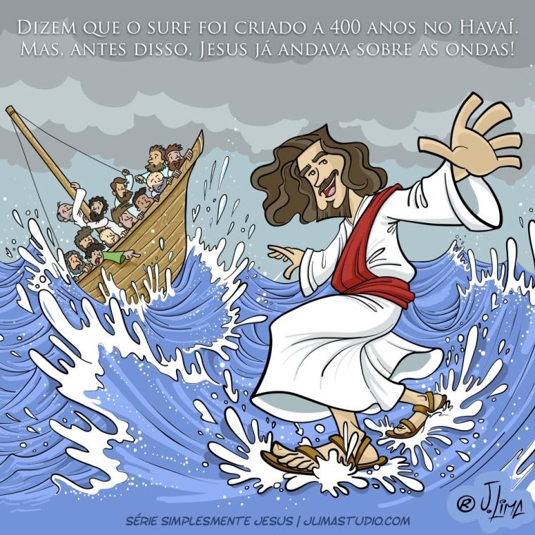 simplesmente Jesus andando sobre o mar 2