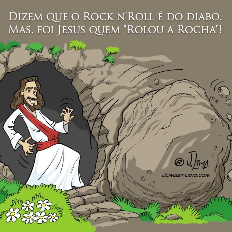 Simplesmente Jesus rocha rock charge cartoon jlima