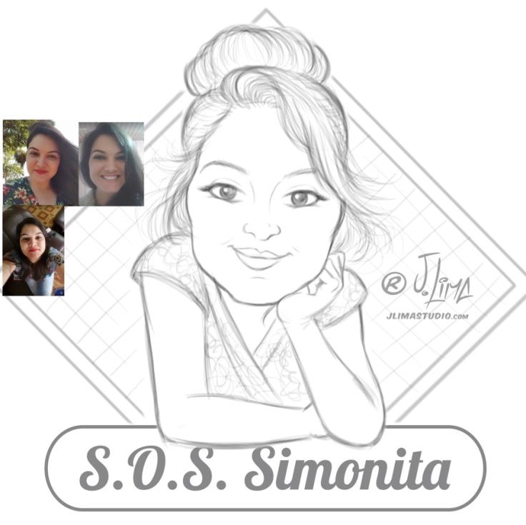 Simonita 2 rosto mascote personagem caricatura logotipo logo design desenho ilustração mulher garota face busto mascote jlima