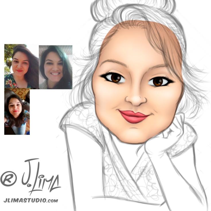 Simonita 3 rosto mascote personagem caricatura logotipo logo design desenho ilustração mulher garota face busto mascote jlima